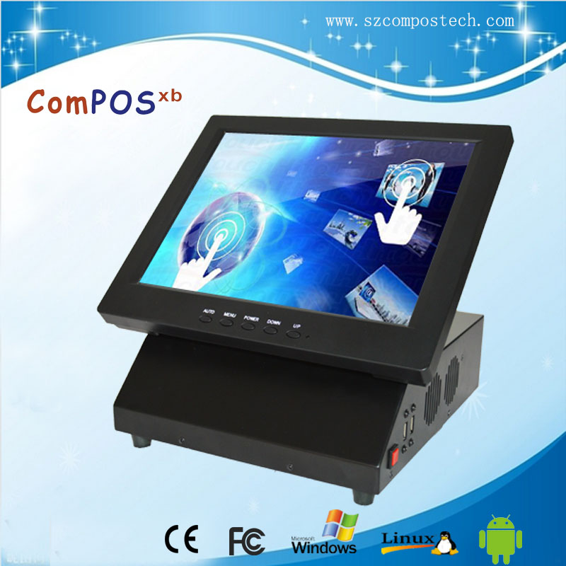 Good Qulity Made In China All In One 12 Inch Touch Screen Monitor POS Machine PC System With Low Price For Restaurant цена