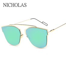 Personality Sunglasses Women Brand Designer Reflective Mirror Sun glasses For Wo