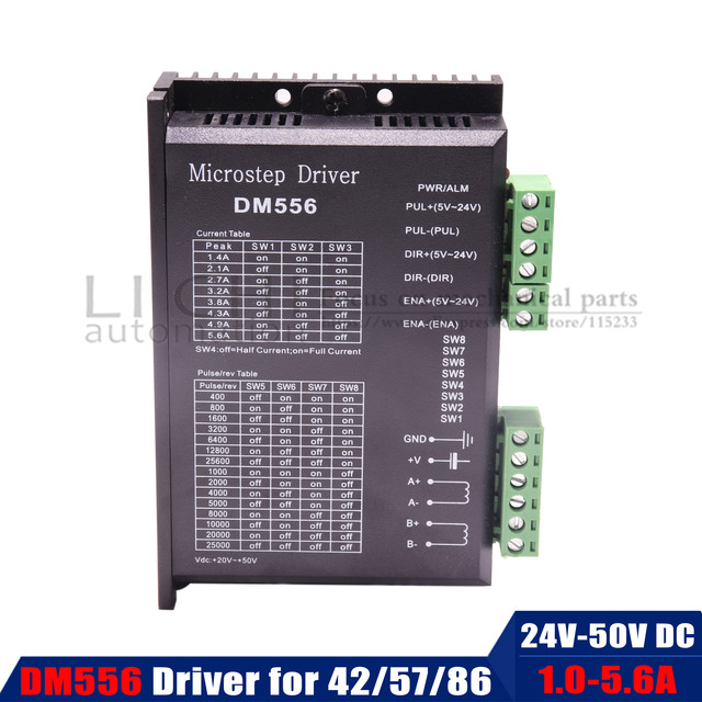 DM556 Digital Stepper motor driver 2 phase 5.6A for 57 86 stepper motor NEMA17 NEMA23 NEMA34 Stepper Motor Controller