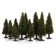 15 peças 1/100 1/150 1/200 paisagem verde cenário modelo, árvores de cândalo diorama miniatura presente