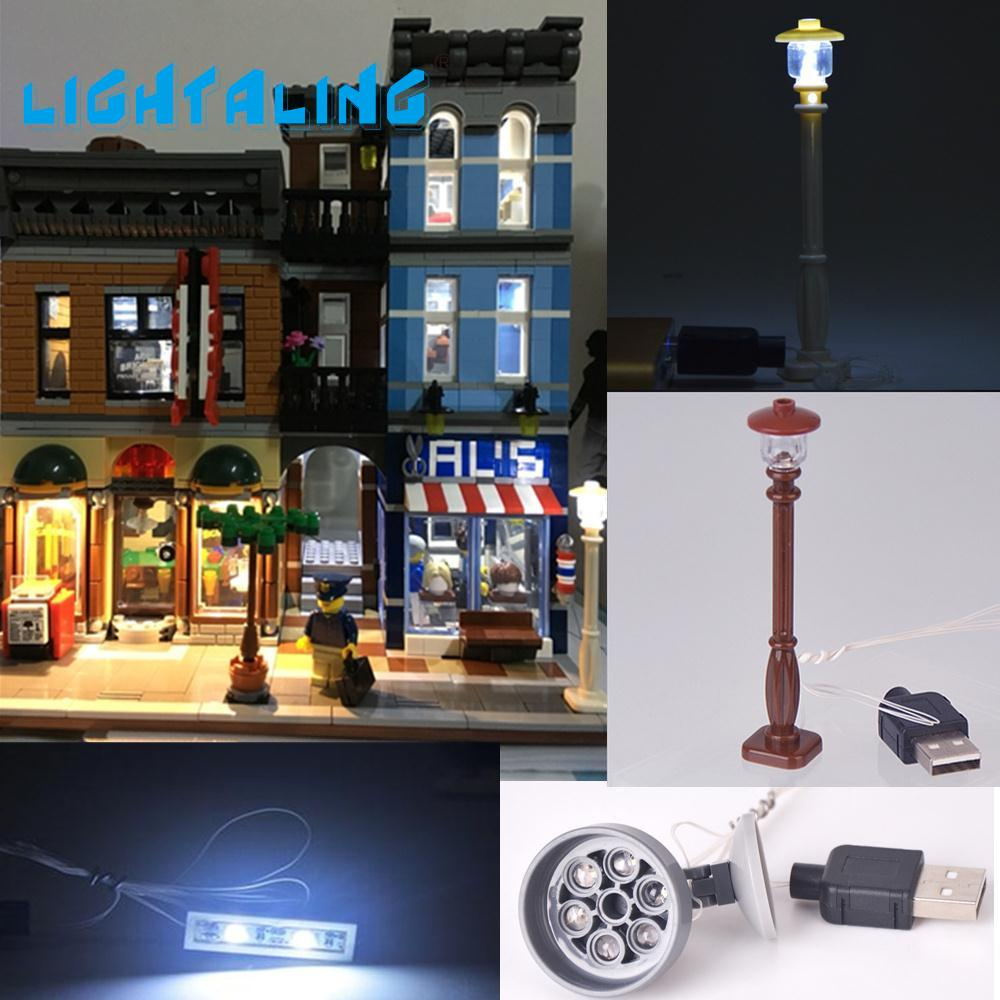 Lightaling LED-lampa för Creator Kompatibel med Famous Brand 10246 Blocks Model Toys Set