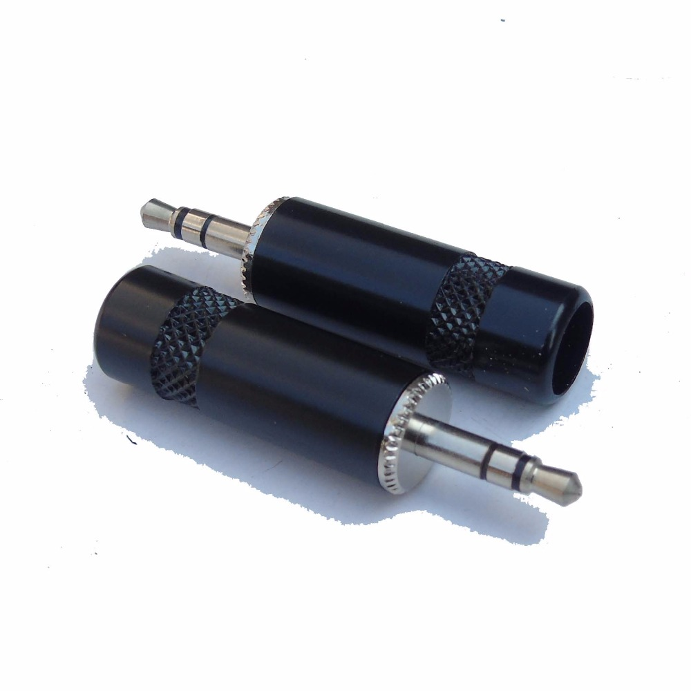 High Quality 50pcs Copper 35mm Male Plug Stereo Audio Jack Wiring Soldering With Tail Diameter 85mm