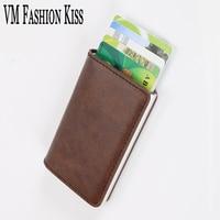 VM FASHION KISS RFID Against Theft Brush Security Single Aluminum Box Wallet Credit Card Id Holders