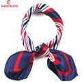 hancreate 2017 women small Square fashion collar scarf headband bag wraps Spring summer neckerchief silk scarves 50*50cm 26#
