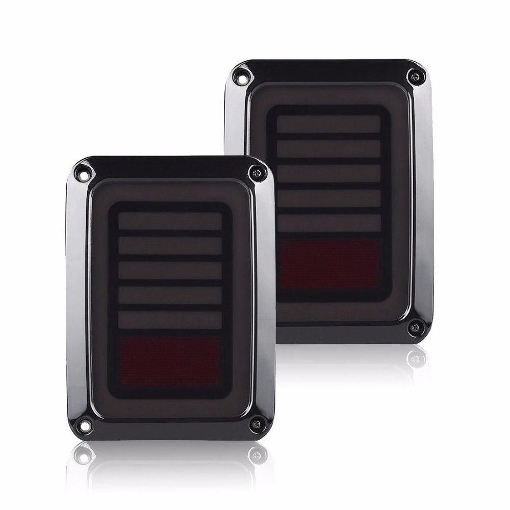 Auto Pièces de voiture Queue lampe pour Jeep Wrangler 07-16 led feux arrière Arrière lumière Feux Diurnes avec clignotants lampe