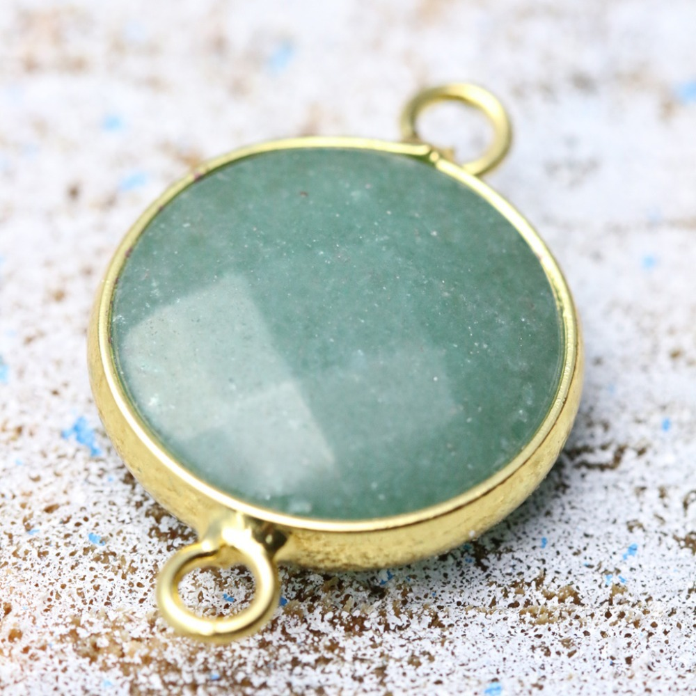 Semi precious stone pendant jewelry connector brass bezel pendants semi precious stone pendant jewelry connector brass bezel pendants and necklace making diy b052 in pendants from jewelry accessories on aliexpress mozeypictures Images