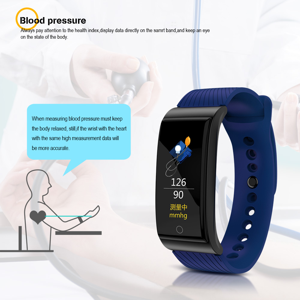 F4 Smart Band Blood Pressure Heart Rate Monitor Men Women Wristband Fitness Sports Watch Pedometer Smart Metal Bracelet