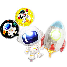 Space Rocket Astronaut Foil Balloon Theme Happy Birthday Party Decoration Inflatable Globals Spaceman theme Helium Ballon