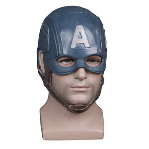 Image 2 - Cosplay Captain America Steven Mask Helmet Halloween Soft Cosplay Latex The Avengers Mask Mask Props