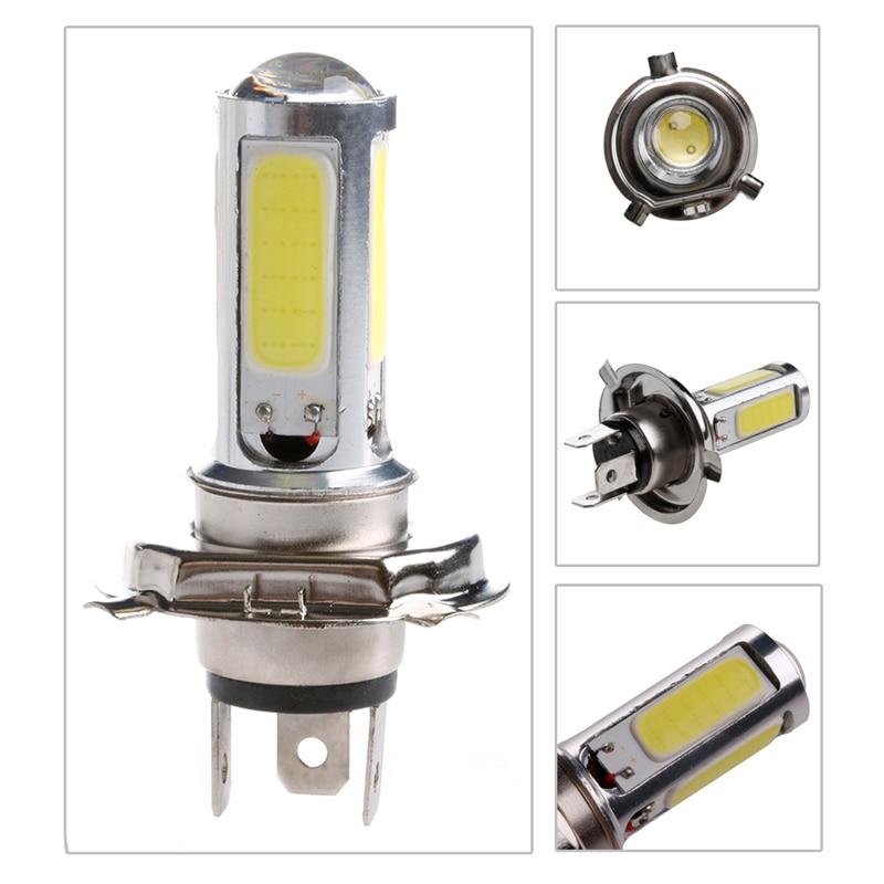 DC 12V  White Light H4 COB 51 LED 25W Motor Indicator Bulb Car Light Source Lamp highlight h3 12w 600lm 4 smd 7060 led white light car headlamp foglight dc 12v