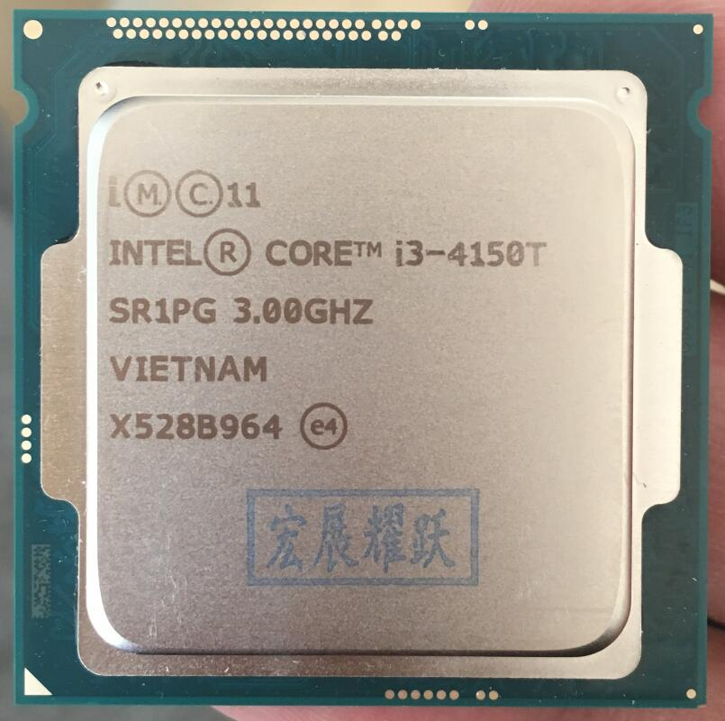 Intel  Core  Processor I3 4150T  I3-4150T  LGA1150  22 nanometers  Dual-Core  100% working properly Desktop Processor wavelets processor