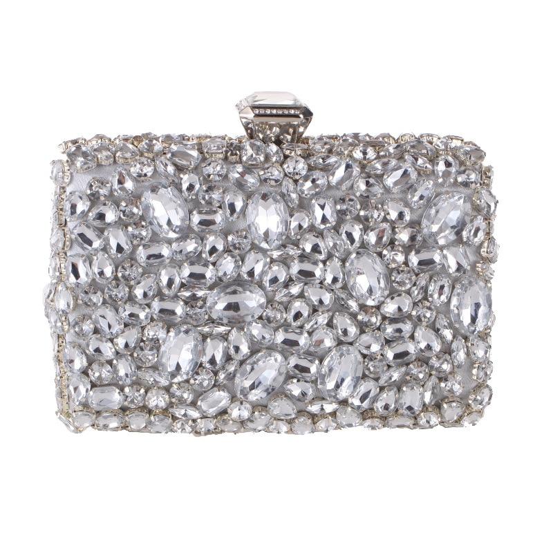 Strass pochette pour femmes sacs diamants dames mode sacs de soirée cristal mariage mariée sacs à main sac à main Mini sac à bandoulière - 3