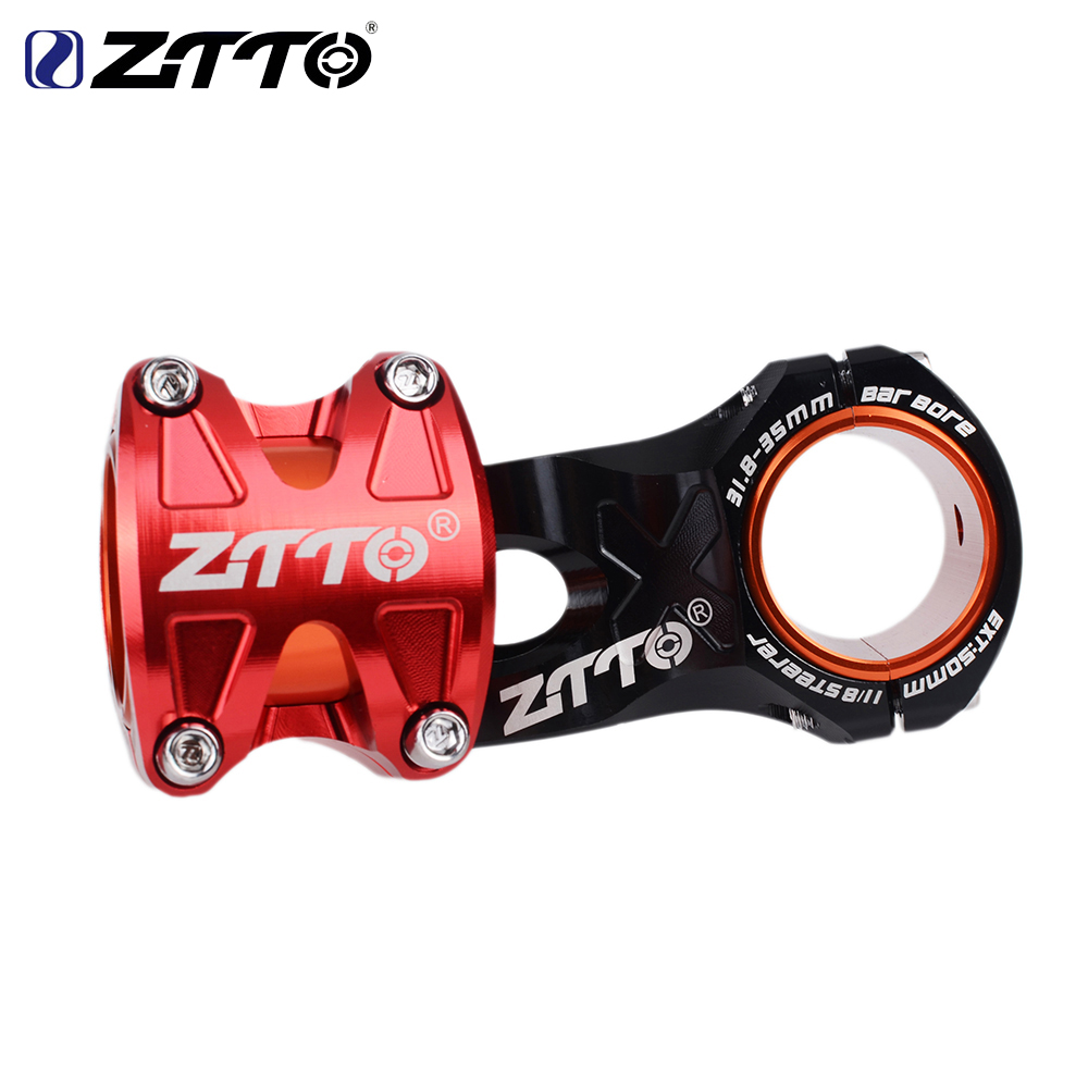 ZTTO 0 Degree Rise DH AM Enduro 28.6mm Stem Bicycle 50mm MTB Stem Aluminum Alloy CNC For 35mm / 31.8mm Handlebar