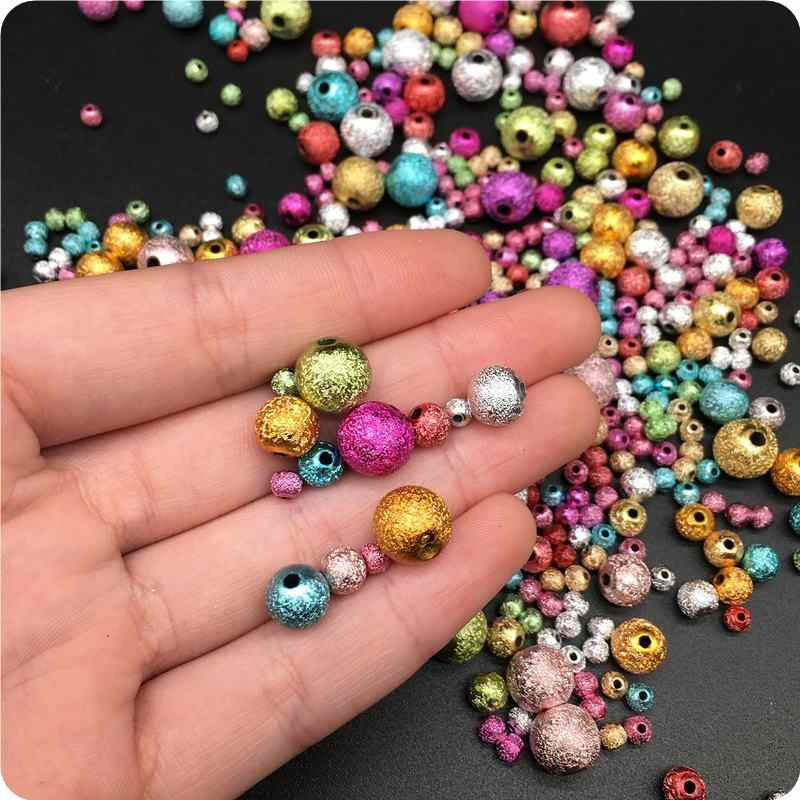 4/6/8/10mm Acrylic Bead Handmade DIY Beads Circular Jewelry Pretty Accessories Simple Fashion For Bracelet Necklace Leisure Gift