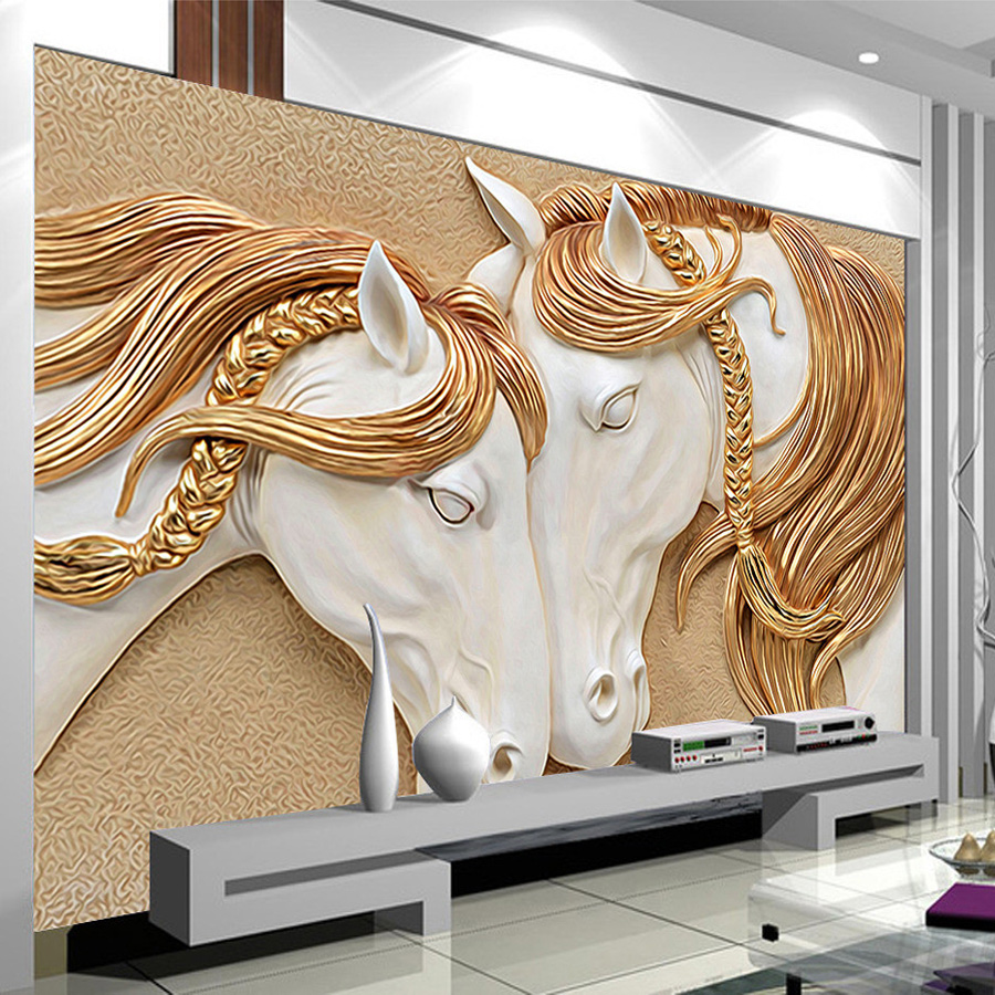 Embossed wall murals choice image home wall decoration ideas high quality custom photo wallpaper 3d stereo embossed horse high quality custom photo wallpaper 3d stereo amipublicfo Gallery