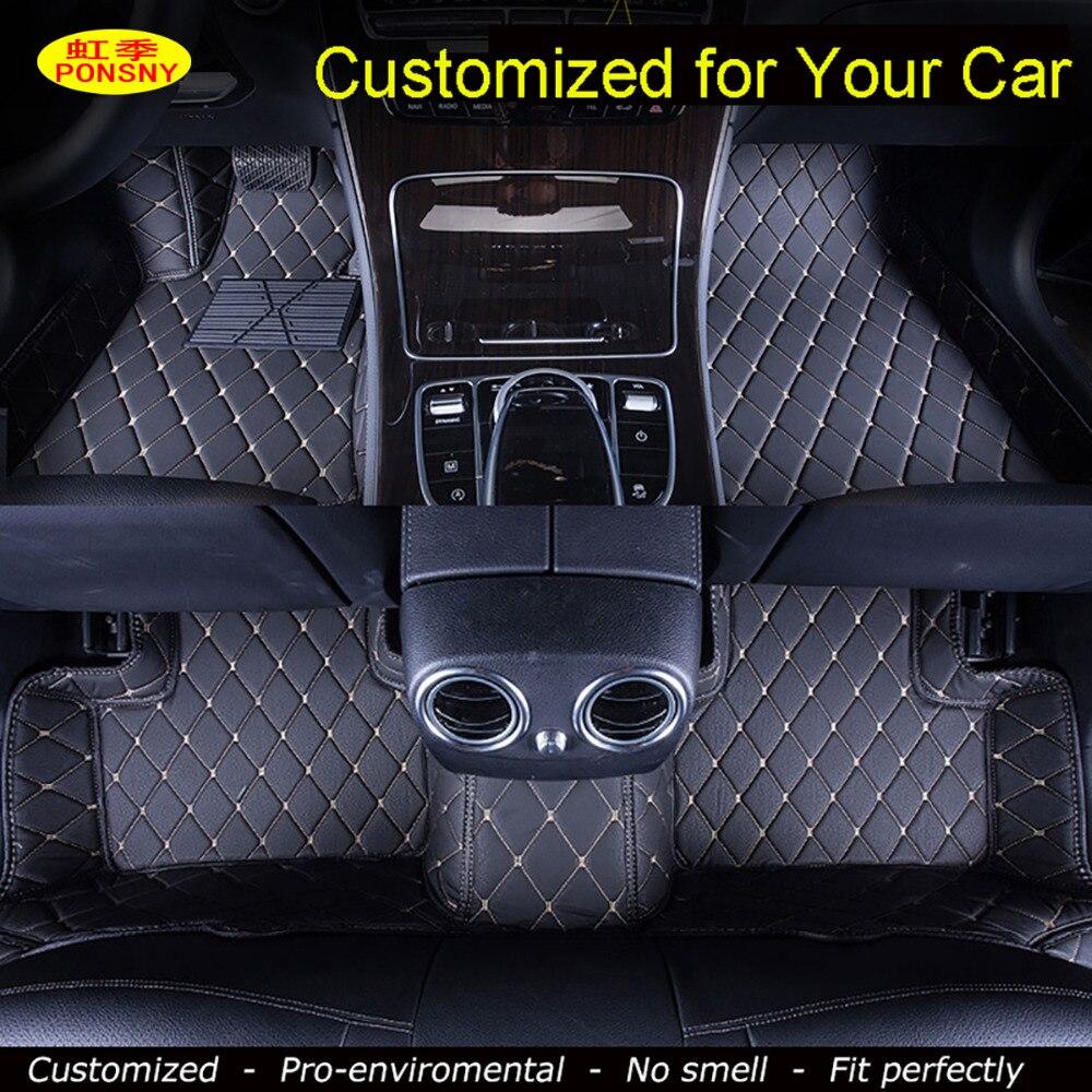Tapis de sol de voiture personnalisés PONSNY personnalisés pour Chevrolet Cruze Malibu Sonic Trax Tracker voile Captiva Epica tapis de voiture