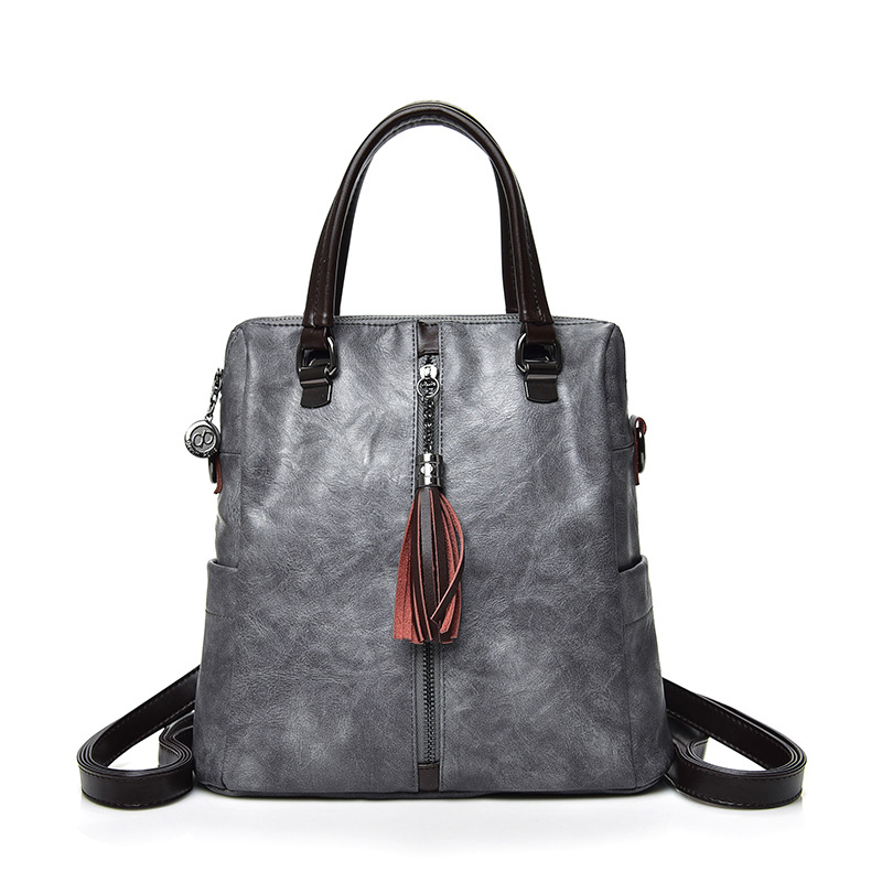 Sacs à dos pour femmes en cuir véritable gland femmes filles étudiants sac dames sacs à bandoulière femmes mode dos Packs sac de voyage