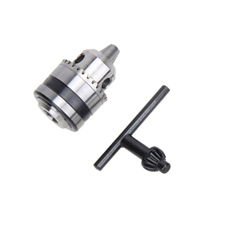 Hot Electric Metal Drill Chuck 0.6~6mm 3/8Thread 24UNF 1/4Hex Shank Power Tool new rotary b12 hammer drill chuck tool cap 1 5 10mm 3 8 mount 3 8 24unf converion sds shank adapter