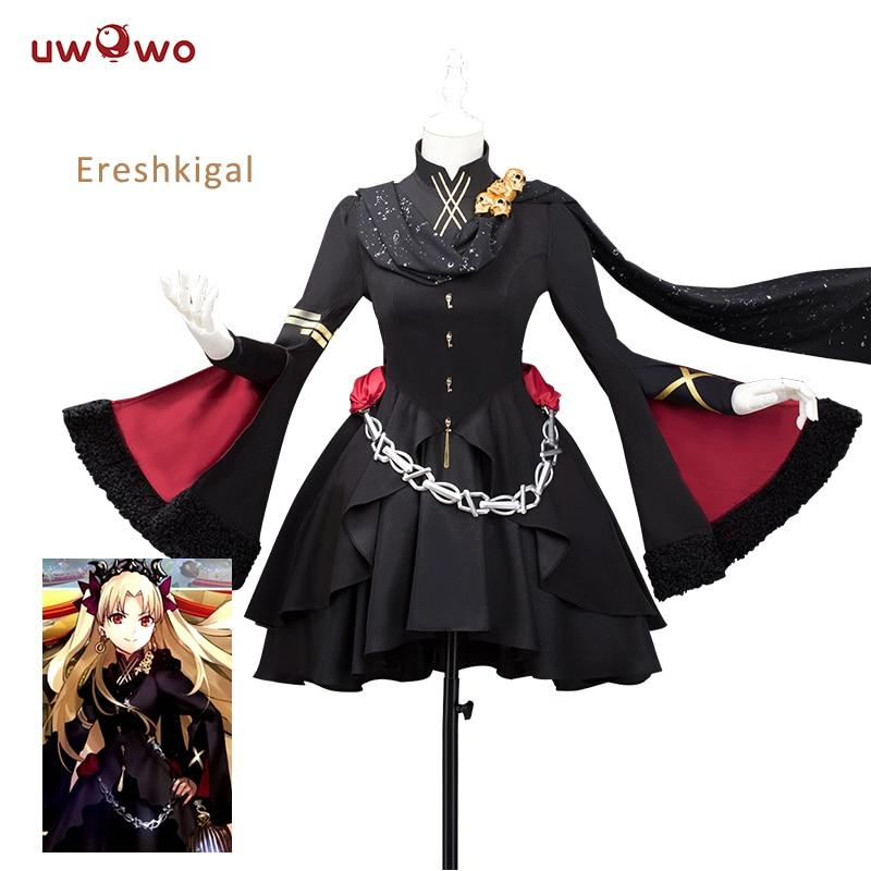 ASCOSING  Ereshkigal Fate Grand Order Cosplay Lancer Black Dress Costume Anime Fate Grand Order Cosplay Ereshkigal Costume Women