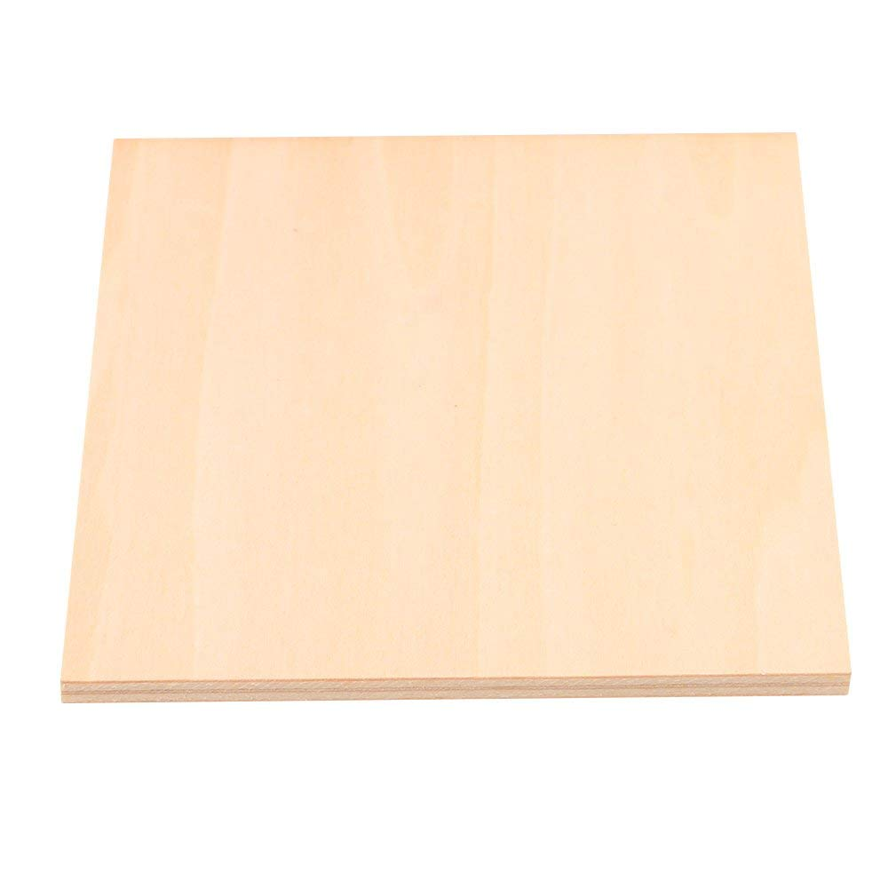 5 Pieces Square Basswood Blank Board for DIY Model Making /& Crafts 20cm