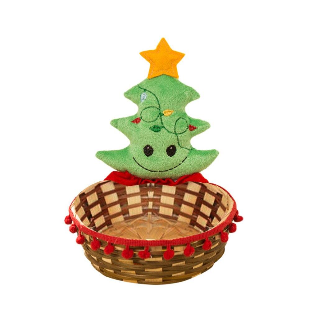 Рождественская корзина для хранения конфет украшение корзина для хранения Санта Клауса Подарок Рождественское украшение Рождественская корзина для хранения конфет - Цвет: B