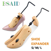 BSAID 1pc 2-way Adjustable Wooden Shoe Trees For 10cm High Heel Women Shoes Shoe Stretcher Expander Shoes Support Rack New S/M/L