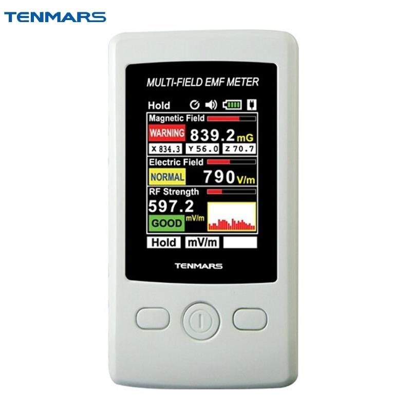 TM-190 Gauss 3-axis Magnetic Electric RF Field Strength Digital Electromagnetic Radiation Detector EMF Meter