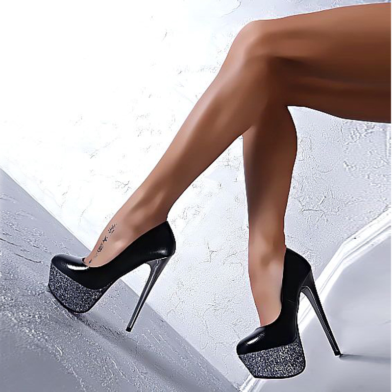 New Plus Size Spring Autumn Ultra High Heels Shoes Female Sexy Platform Women Thin Pumps Party Wedding Shoes Black Zapatos Mujer fashion super 16cm heels sexy platform women shoes high heels brand new thin heels party wedding shoes women pumps