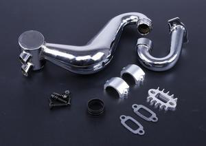 Image 1 - Выхлопная труба SS для бесшумных труб/Настраиваемая труба для модели 1/5th RC Gas/Настраиваемая труба до 1 л.с. для BAJA 5B