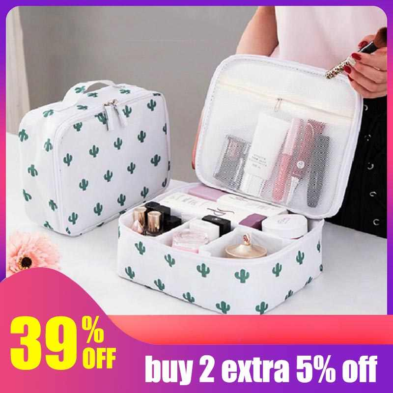Hoomall Mini Casual Portable Cosmetic Bag Waterproof Makeup Organizer Zipper New Travel Wash Pouch Toiletry Travel Storage Bag