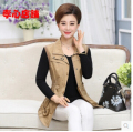 Hot!Free shipping !6 Colors 2016 Fashion New Spring Casual Slim Sleeveless Pockets Splice Outer Women Vest Jacket