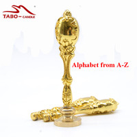 New Alphabet Stamp With Metal Handle Retro Style Sealing Wax Stamp Deluxe Gift Set 26 Alphets