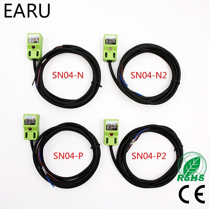 Sensor de proximidad inductivo SN04-N SN04-N2 SN04-P SN04-P2 DC NPN PNP NO NC 4MM DC 6-36V interruptor con Sensor de proximidad SN04 Interruptor POE inverso 8 RJ45 2 SC fibra Gigabit Ethernet interruptor medio convertidor fibra óptica UTP puerto 10/100 /1000M PCBA