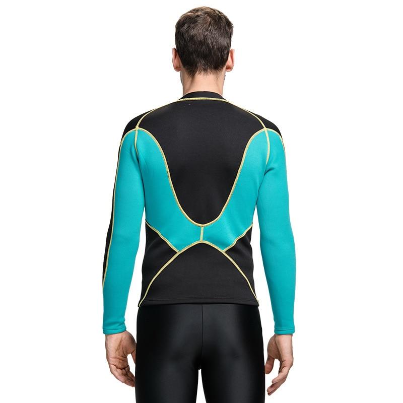 2mm Mäns Neopren Wetsuit Jacka Swimming Shirt Tröja Långärmad Top - Sportkläder och accessoarer - Foto 3