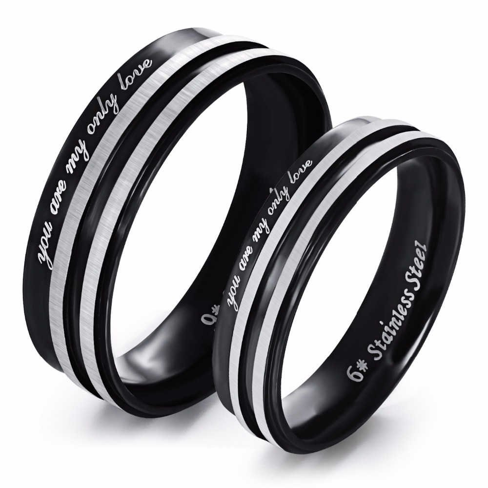 Online Get Cheap Black Promise Rings for Couples -Aliexpress.com ...