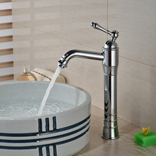 Single Handle Bathroom Basin Vessel Sink Faucet Hot Cold Water Mixer Taps Chrome Finish One Hole