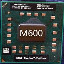 AMD Turion II Ультра двухъядерный мобильный M600 m600 TMM600DBO23GQ 2,4G 2M M620 cpu latop процессор работы