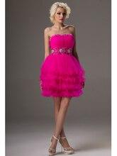 Nach Maß Plus Size Short Prom Kleider A-line Ballkleid Perlen Tüll 2016 Cocktailkleider für Frauen CD9623