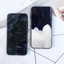 Tempered Glass Phone Cases For iPhone X XS MAX XR Feather Gradient Color 7 8 Plus 6 6s Protective Shell