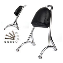 Triclicks Black / Chrome Burly Short Passenger Backrest Sissy Bar Seat Bracket Rack For Harley Sportster Iron 1200 883 XL 04-16 цена