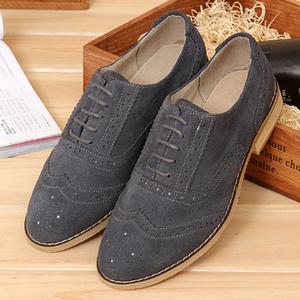 Image 5 - Men genuine leather brogues oxford flats shoes for mens brown handmade vintage casual sneakers leather flat shoes 2020