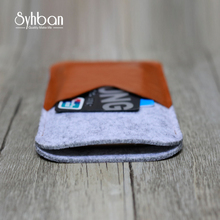 Syhban Wool Felt Case for iPhoneX.8.6S 7S Ultra thick Phone Shell Cover Card Bags for Samsung S7 S6 NOTE 3 4 5
