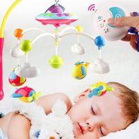 Lovely Baby Toys Bed Bell 0 12 Months Animal Musical Crib Mobile Hanging Rattles Newborn Early Learning Kids toys for baby