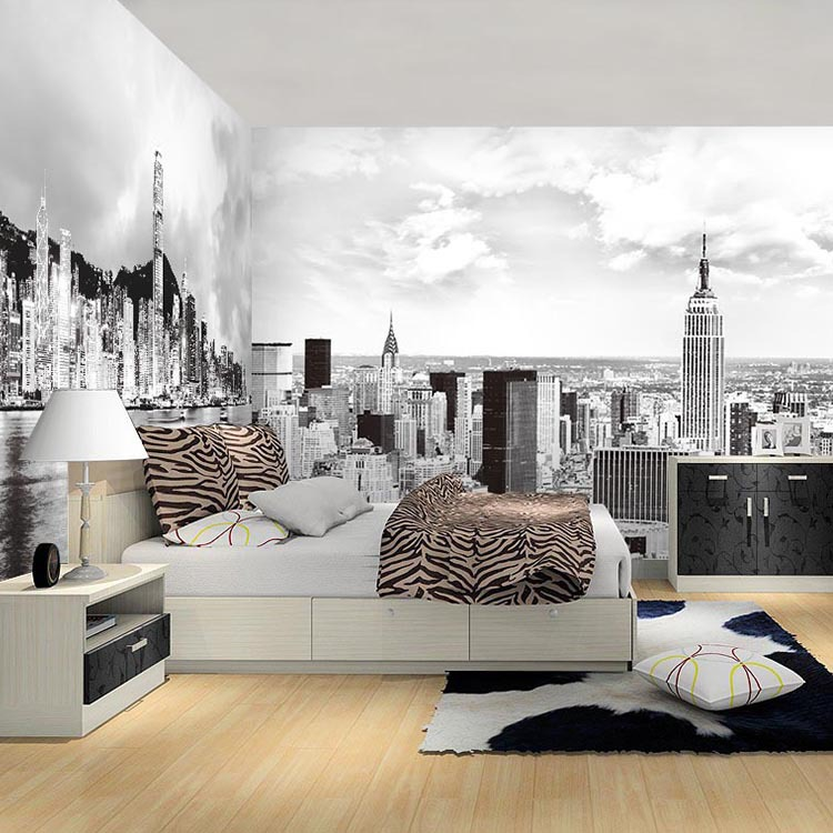 Lovely Blacku0026white 5D Papel Murals New York City 3d Photo Mural 3d Wallpaper For  Bedroom Sofa Background 3d Wall Murals Wall Paper In Wallpapers From Home  ...