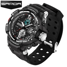 SANDA Sport Watch Men 2017 Clock Male LED Digital Quartz Wrist Watches Men's Top Brand Luxury Digital-watch Relogio Masculino