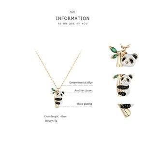 Image 5 - ZEGL tier halskette panda halskette frau anhänger schlüsselbein kette Chinesischen stil halskette hals kette