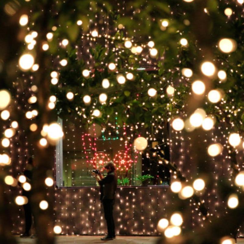 Warm White Solar Garden Fairy Lights: 12Meters 100 LED Outdoor Warm White Solar Lamps LED String