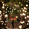 12Meters 100 LED Outdoor Warm White Solar Lamps LED String Lights Fairy Holiday Christmas Party Garlands