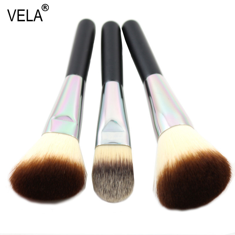 Premium Face Makeup Brushes Set 3 Pieces Powder Blush Foundation Brush  клещи ручные тиски kreg face clamp khc premium