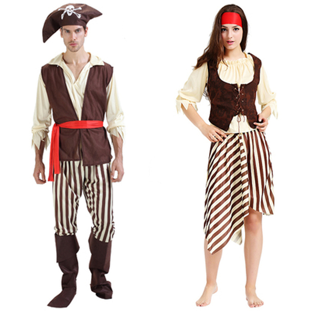 sexy pirate costume men adult male woman female halloween costumes ...